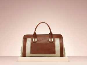 Chloe Alice Large White Tan Tote Bag - Holiday 2013