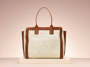 Chloe Alison Brown White Shopping Tote Bag - Holiday 2013