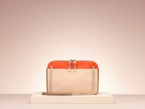 Chloe Lucy Orange Chain Messenger Tote Bag - Holiday 2013