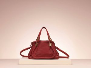 Chloe Red Berry Small Paraty Tote Bag - Holiday 2013