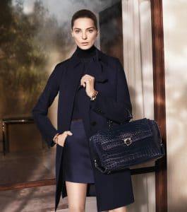 Daria Werbowy in Salvatore Ferragamo Fall-winter 2013 Ad Campaign 2