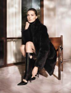 Daria Werbowy in Salvatore Ferragamo Fall-winter 2013 Ad Campaign 3