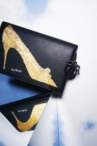 Dior Black Warhol Shoe Print Clutch Bag