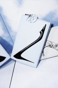 Dior White Warhol Shoe Print Clutch Bag