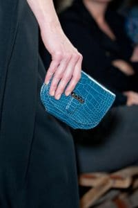 Hermes Blue Crocodile Small Clutch Bag - Runway Spring 2014