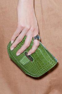 Hermes Green Crocodile Small Clutch Bag - Runway Spring 2014