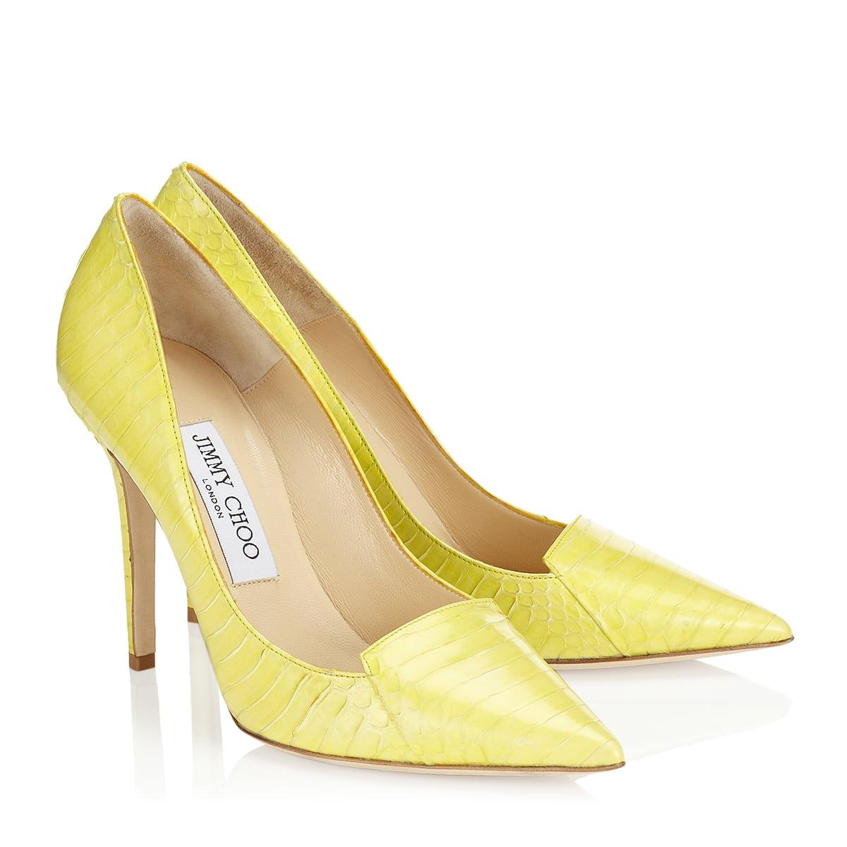 Neon Yellow Flat Shoes