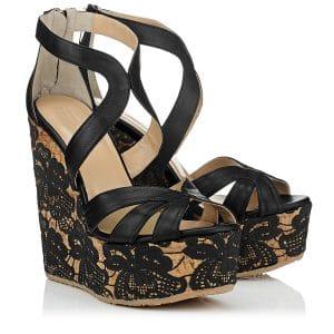 Jimmy Choo Parrow Wedge Sandals - Cruise 2014