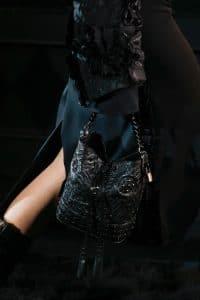 Louis Vuitton Black Sequined Noe Bag - Runway Spring 2014
