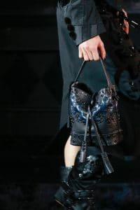 Louis Vuitton Black Embellished Noe Bag 6 - Runway Spring 2014