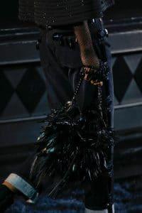 Louis Vuitton Black Feathered Noe Bag - Runway Spring 2014