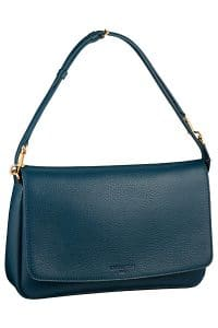 Louis Vuitton Navy Blue Pochette Flap Bag - Cruise 2014