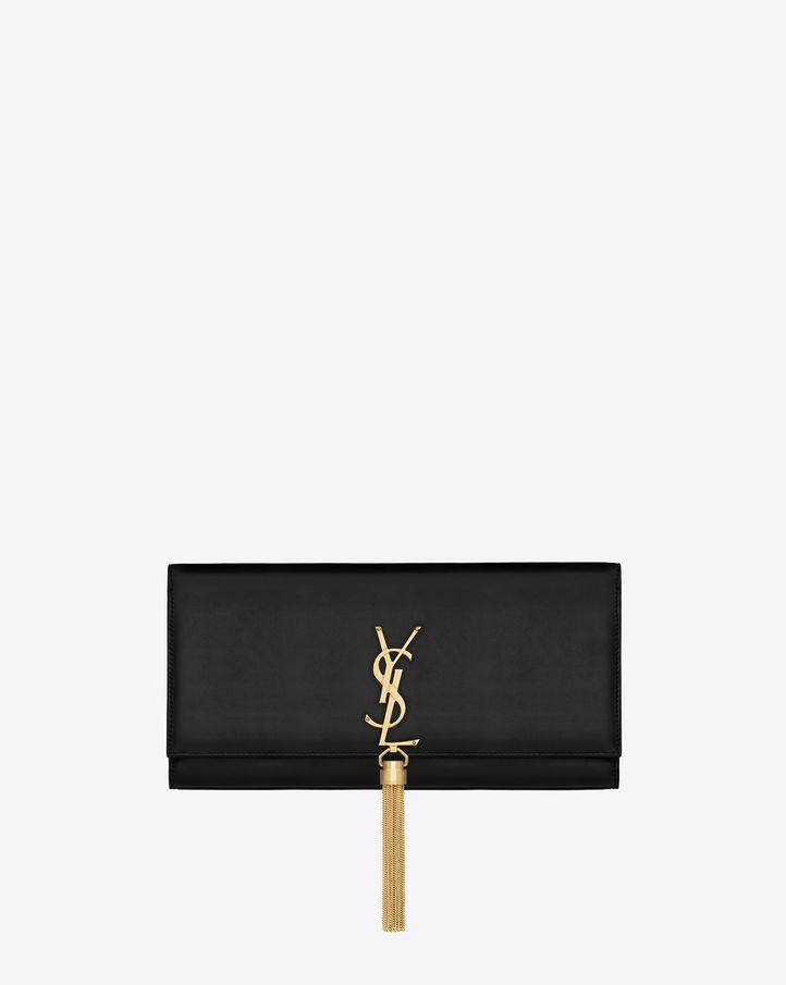 black ysl clutch bag
