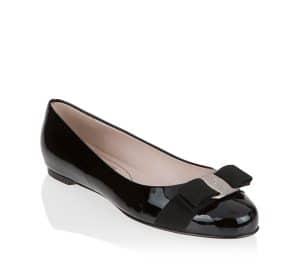 Salvatore Ferragamo Black Patent Varina Flat Shoes 1