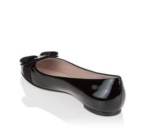 Salvatore Ferragamo Black Patent Varina Flat Shoes 2