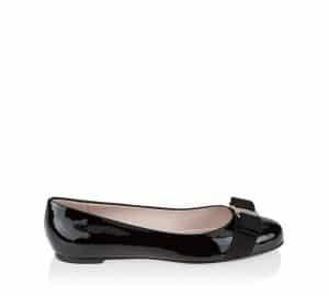 Salvatore Ferragamo Black Patent Varina Flat Shoes 3