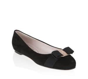 Salvatore Ferragamo Black Suede Varina Flat Shoes
