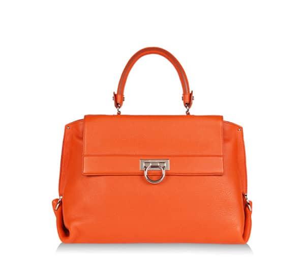 ab018be821 Salvatore Ferragamo Dark Orange Sofia Large Bag