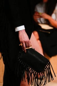 Valentino Black Fringed Clutch Bag - Runway Spring 2014