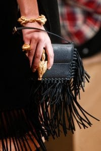 Valentino Black Fringed Flap Small Bag - Runway Spring 2014