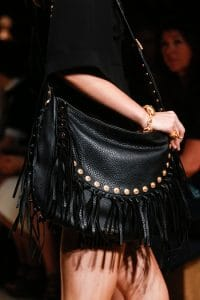 Valentino Black Fringed Shoulder Bag - Runway Spring 2014