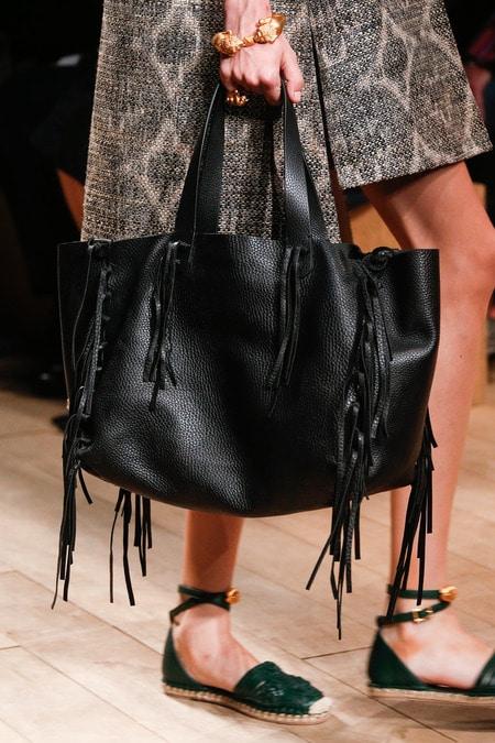 Valentino Bags Black Valentino Black Fringed Tote