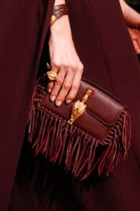 Valentino Burgundy Fringed Flap Small Bag - Runway Spring 2014