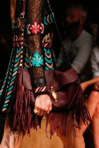 Valentino Burgundy Fringed Shoulder Bag - Runway Spring 2014
