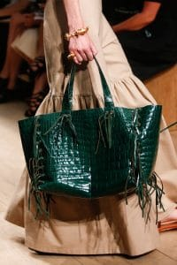 Valentino Green Crocodile Tote Bag - Runway Spring 2014