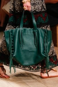 Valentino Green Fringed Tote Bag - Runway Spring 2014