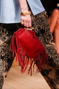Valentino Red Fringed Clutch Bag - Runway Spring 2014