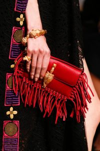 Valentino Red Fringed Flap Small Bag - Runway Spring 2014