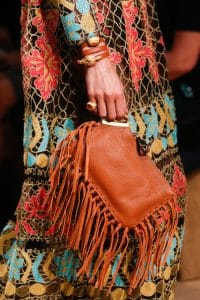 Valentino Tan Fringed Clutch Bag - Runway Spring 2014