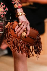 Valentino Tan Fringed Flap Small Bag - Runway Spring 2014