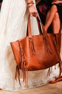 Valentino Tan Fringed Tote Bag - Runway Spring 2014