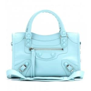Balenciaga Bleu Layette Classic Mini City Bag