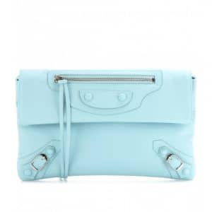 Balenciaga Bleu Layette Classic Envelope Clutch Bag