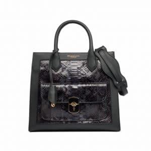 Balenciaga Blue Python Padlock All Time Bag