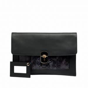 Balenciaga Blue Python Padlock Clutch Bag