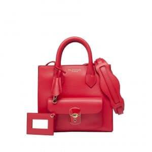 Balenciaga Cherry Red Mini Padlock All Afternoon Messenger Bag