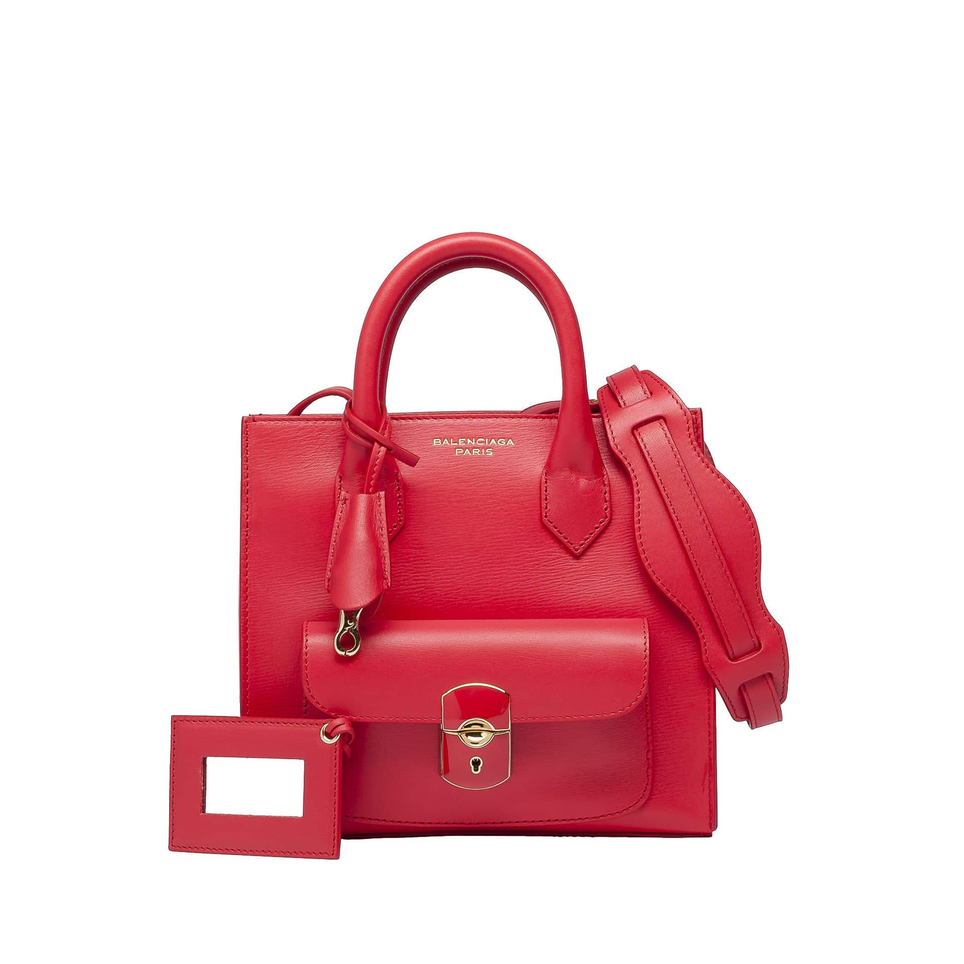 Balenciaga Cherry Red Mini Padlock All Afternoon Messenger Bag 1 295 00 Usd