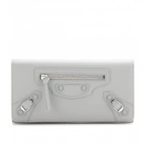 Balenciaga Gris Clair Classic Money Leather Wallet