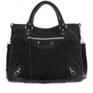 Balenciaga Marble Black Suede City Bag - Fall 2013