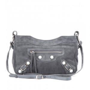 Balenciaga Marble Grey Suede Hip Messenger Bag - Fall 2013