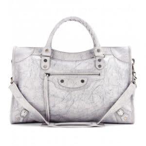 Balenciaga Marbled Grey City Bag - Fall 2013