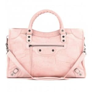 Balenciaga Marbled Pink City Bag - Fall 2013