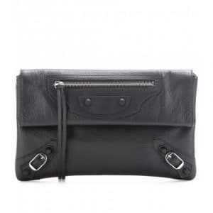 Balenciaga Noir Classic Envelope Clutch Bag