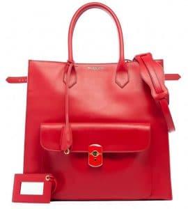 Balenciaga Red Padlock Tote Bag