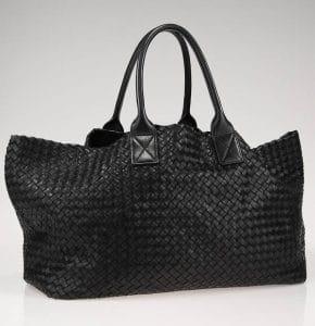 Bottega Veneta Black Cabat Large Bag