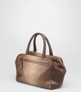 Bottega Veneta Edoardo Walnut Madras sfumato Brera Small Bag